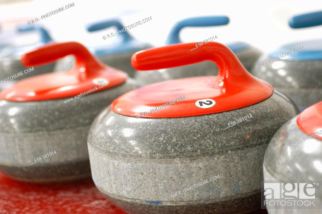 Stock Photo: Curling stones.