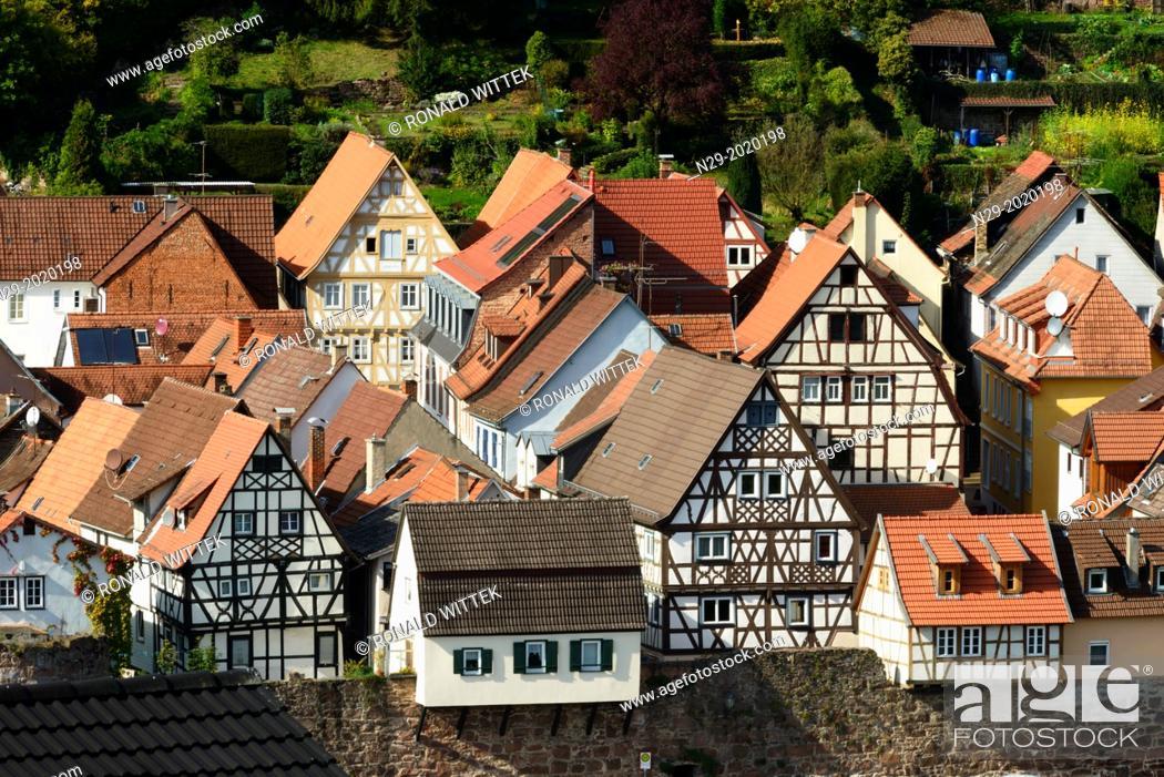 Stock Photo: Hirschhorn, Hesse, Germany.
