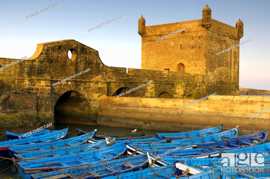 Stock Photo: Medina, Old Town, UNESCO, world cultural heritage, fortress, Essaouira, Morocco, Africa, North Africa.