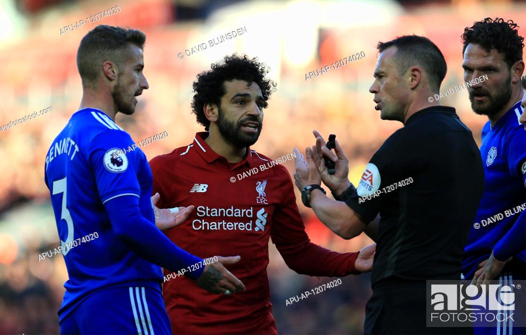 Stock Photo: 2018 EPL Premier League Football Liverpool v Cardiff City Oct 27th. 27th October 2018, Anfield, Liverpool, England; EPL Premier League football.