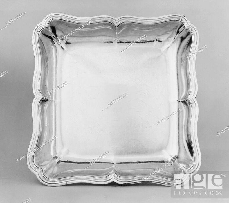 Dish Maker Jean Antoine Bourguet French Master 1758 Stock