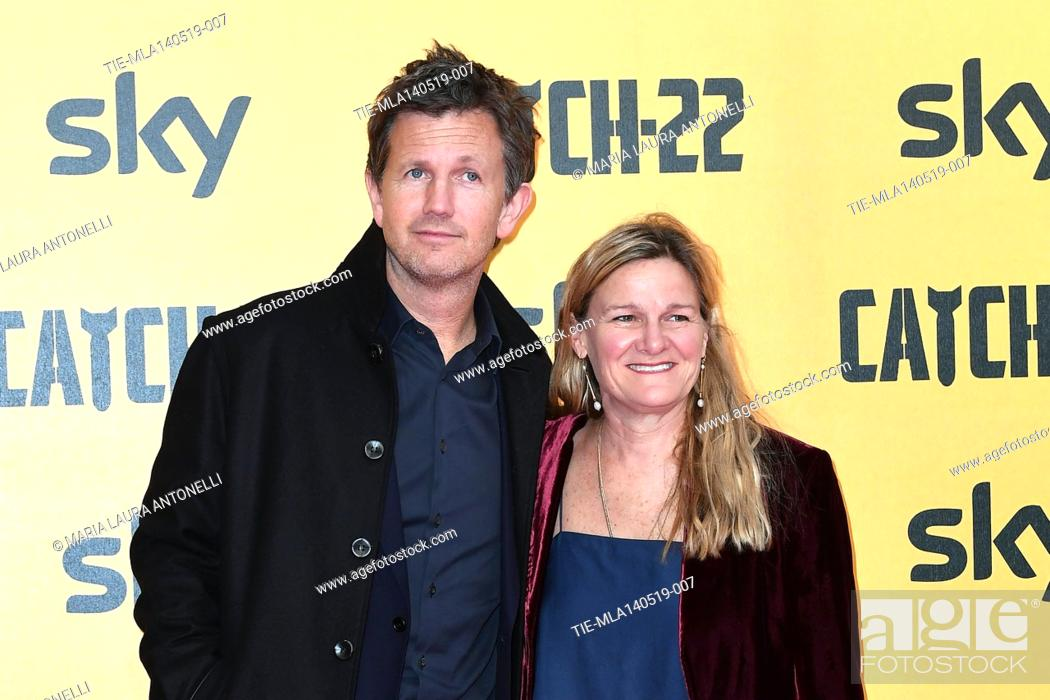 Stock Photo: Richard Brown, Ellen Kuras during the Red carpet for the Premiere of film tv Catch-22, Rome, ITALY-13-05-2019.