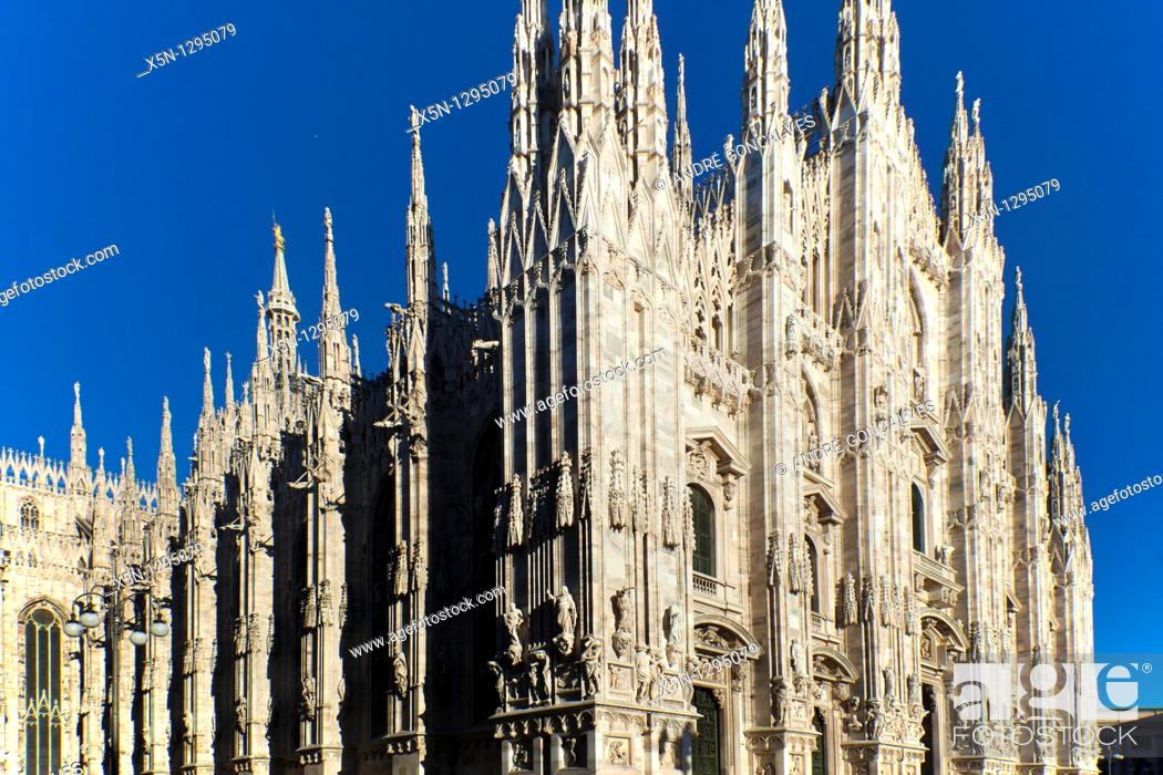 Stock Photo: Cathedral of Milan.