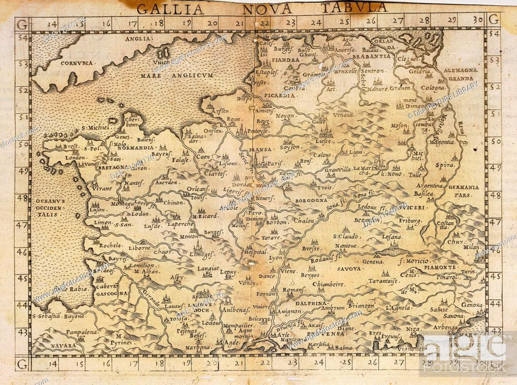 Cartography 16th Century Central Europe Map By Vincenzo Valgrisi
