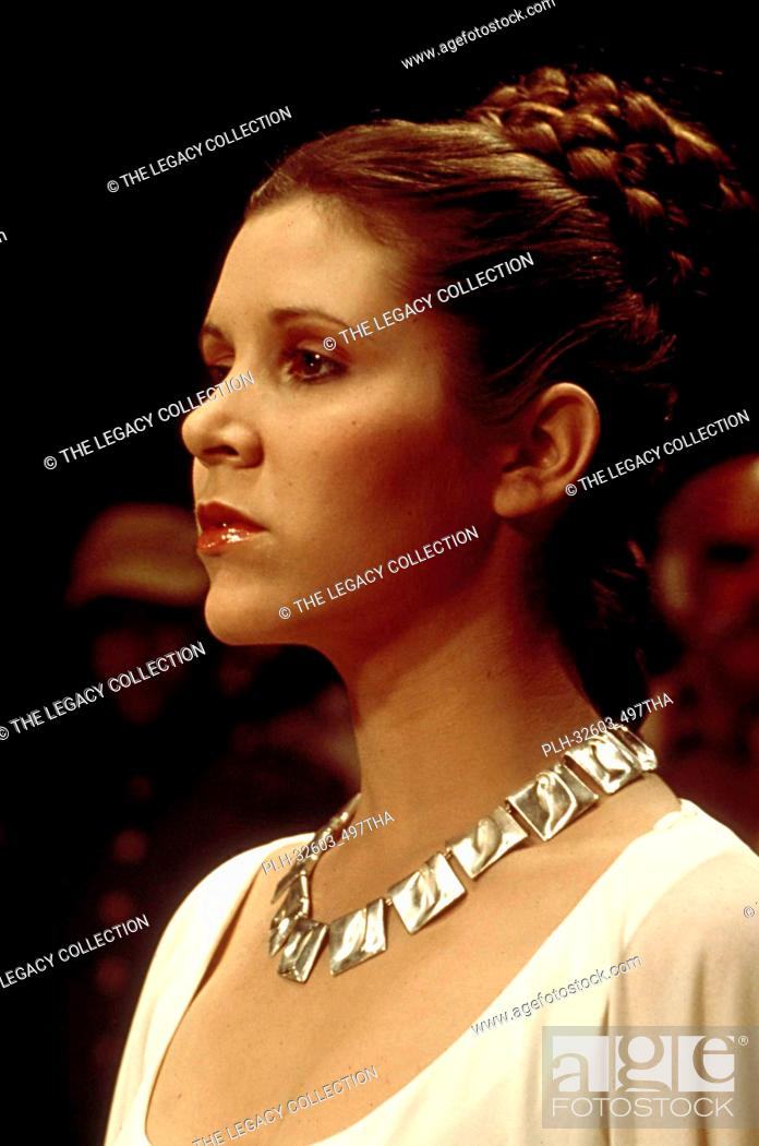 "Stock Photo: Princess Leia (Carrie Fisher) in """"Star Wars: Episode VI: Return of the Jedi"""" (1983)."