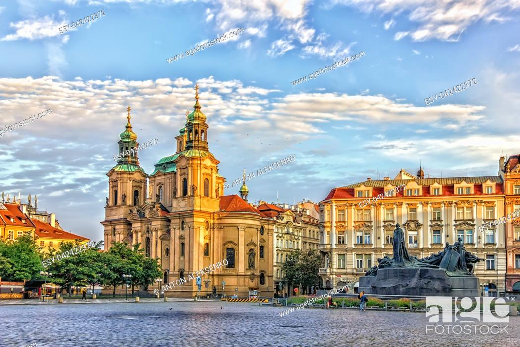 Stock Photo: The Church of Saint Nicholas in the Old Town of Prague.
