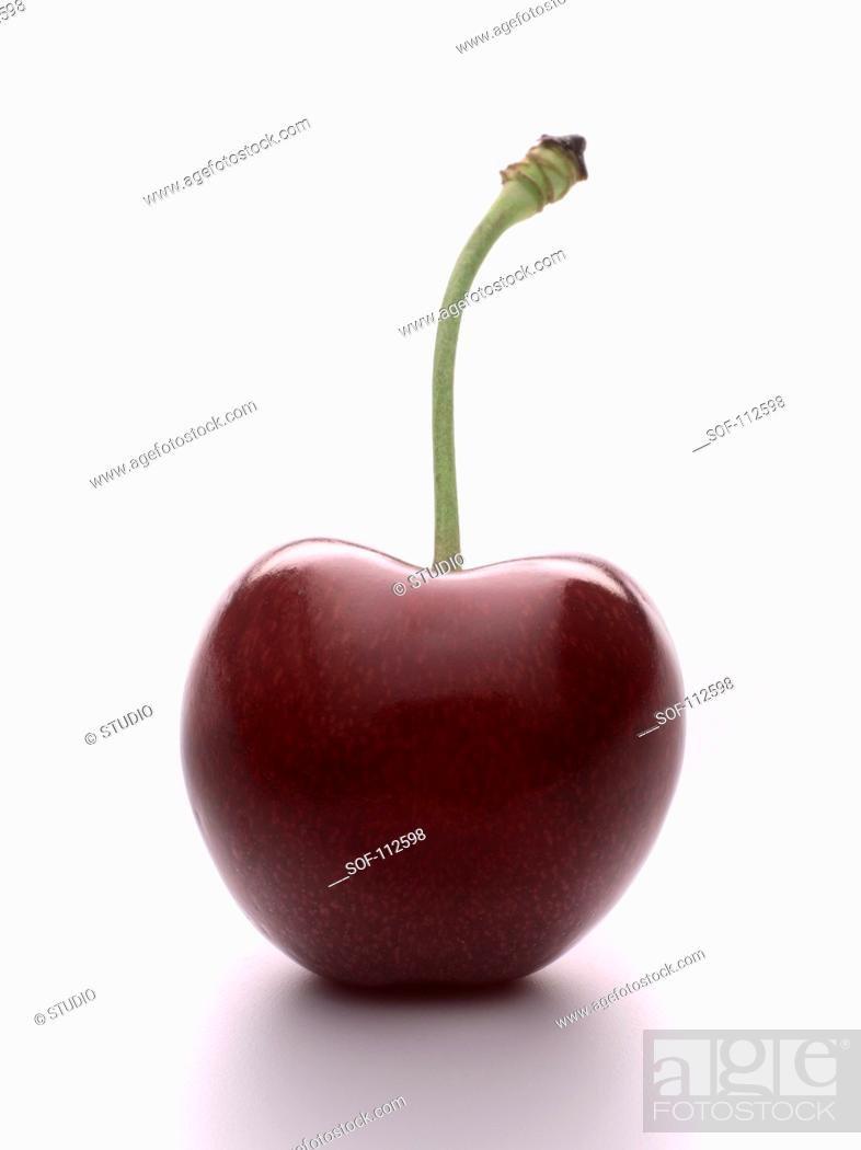 Stock Photo: Burlat cherry.