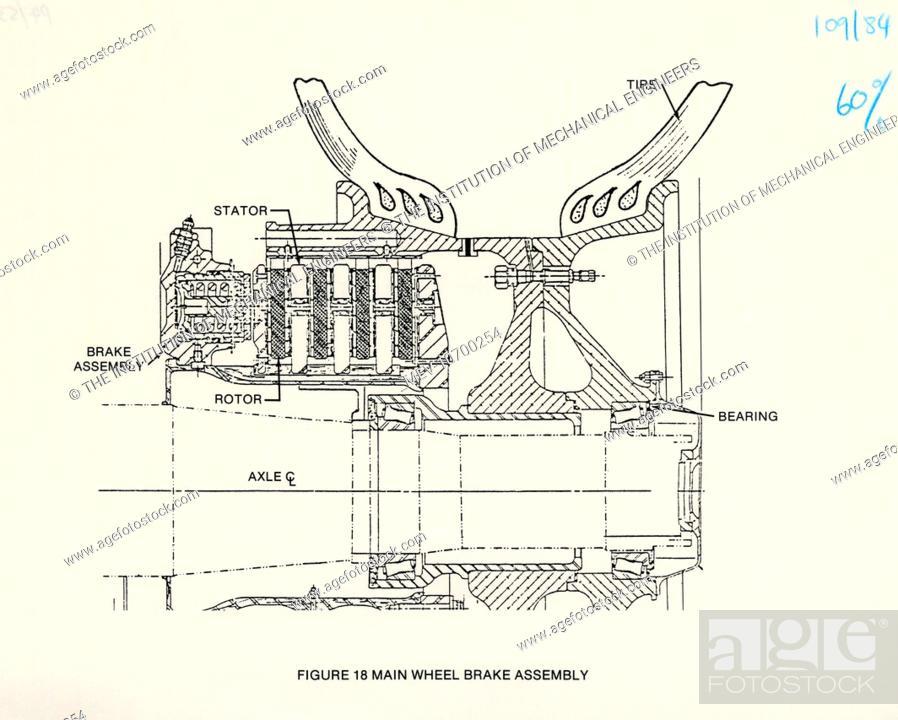 Diagram Of Main Wheel Brake Assembly Of The Space Shuttle Orbiter