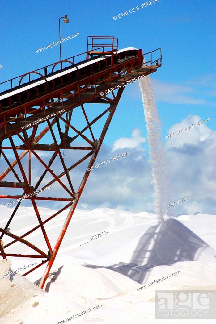 Stock Photo: Salt industry, Guerrero Negro, Baja California Sur, Mexico.