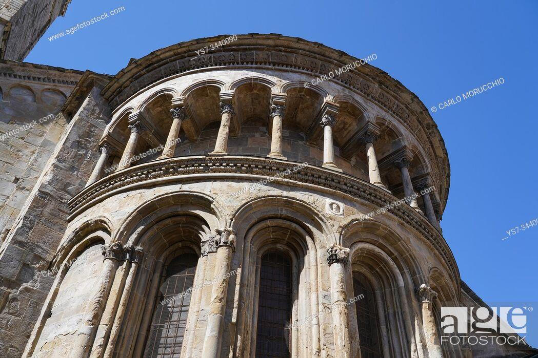 Stock Photo: Central apse of Santa Maria Maggiore Basilica, Bergamo, Lombardia, Italy, Europe.