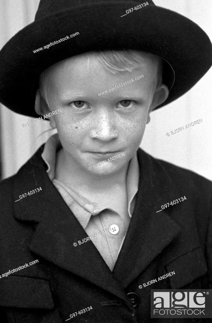 Stock Photo: Boy in hat.