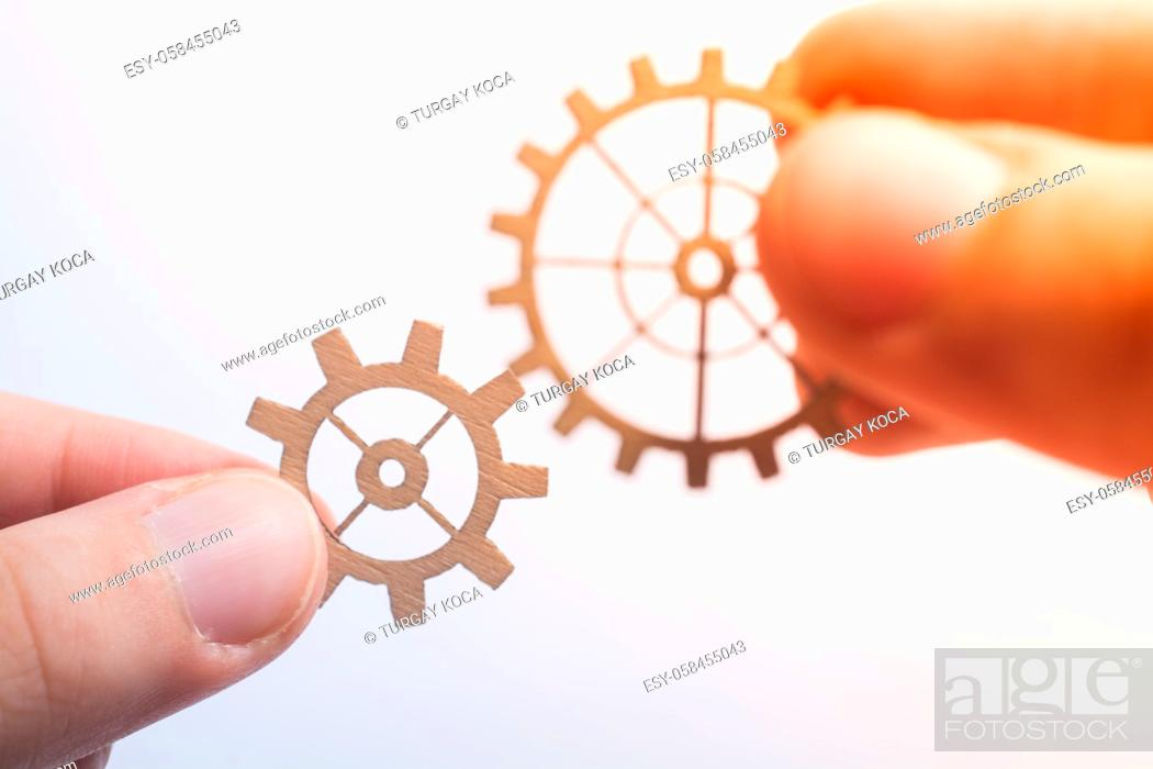Stock Photo: The concept of business processes and ideas with gear wheels.