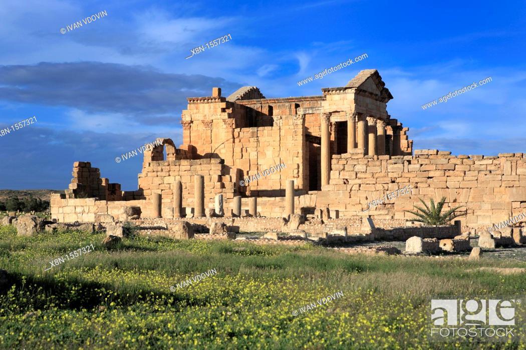 Stock Photo: Main temple 2nd century, Sbeitla, Tunisia.