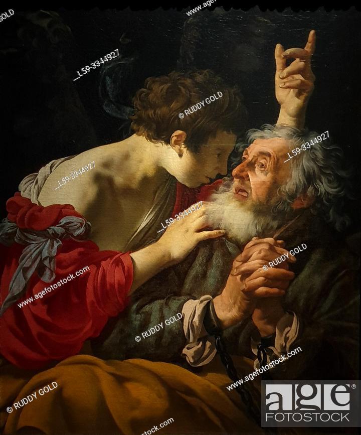 Imagen: 'The liberation of Peter', 1624, Hendrick ter Brugghen (1588-1629).