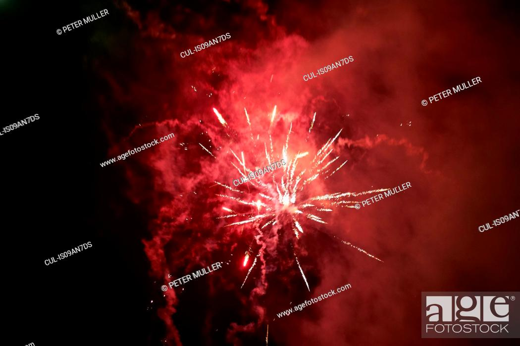 Stock Photo: Firework display.
