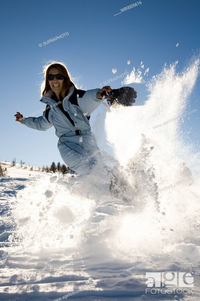 Stock Photo: Woman ski.