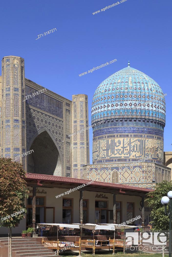 Imagen: Uzbekistan, Samarkand, Bibi-Khanym Mosque, Bibikhanum Teahouse, .