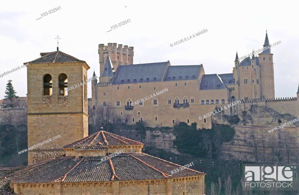 Stock Photo: Alcázar. Segovia. Spain.