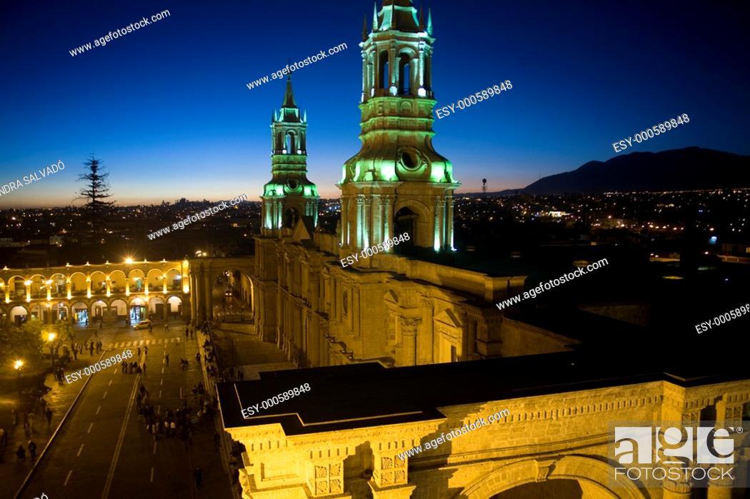 Stock Photo: Cathedral 17th century, Arequipa, Peru.