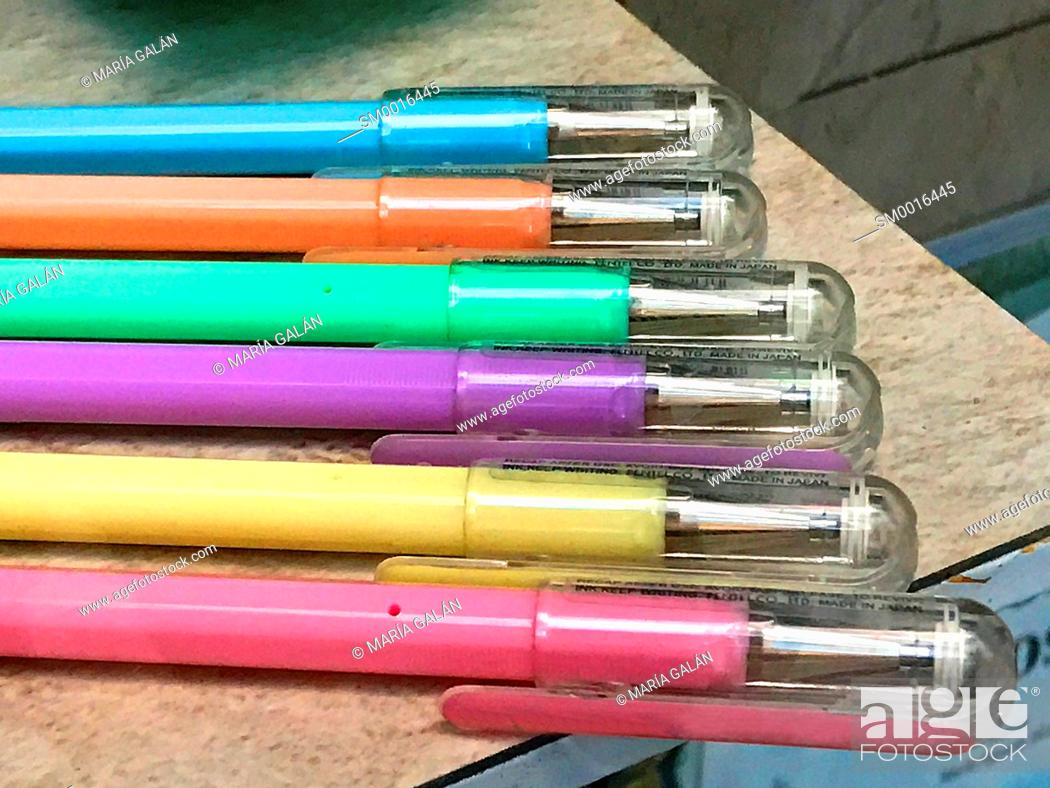 Stock Photo: Colorful markers.