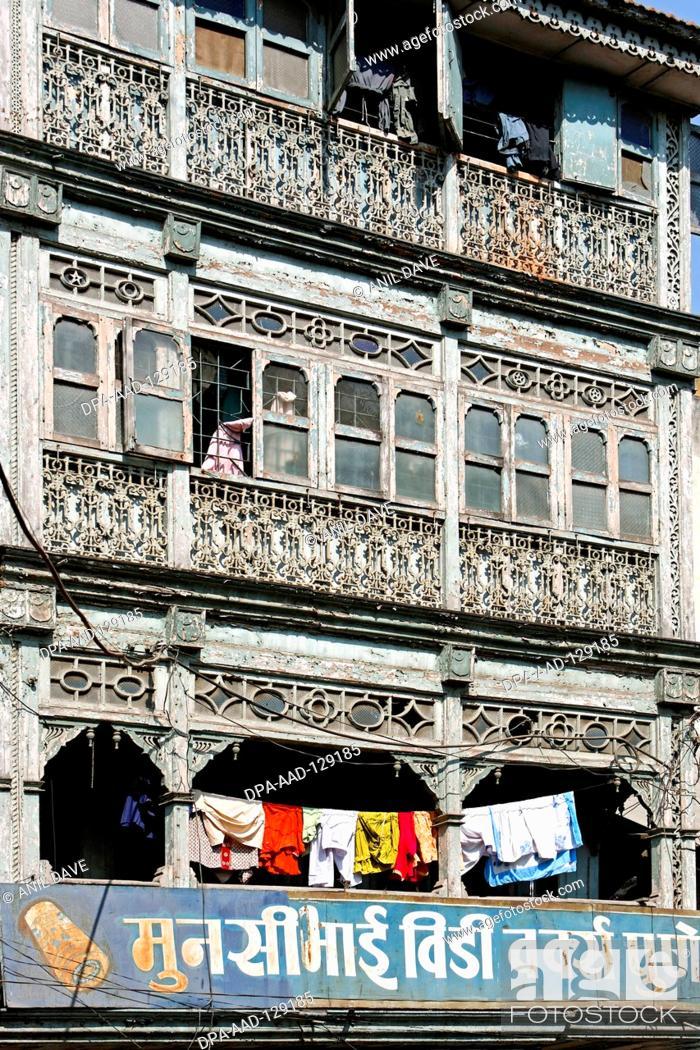 Stock Photo: Old house ; Pune ; Maharashtra ; India.