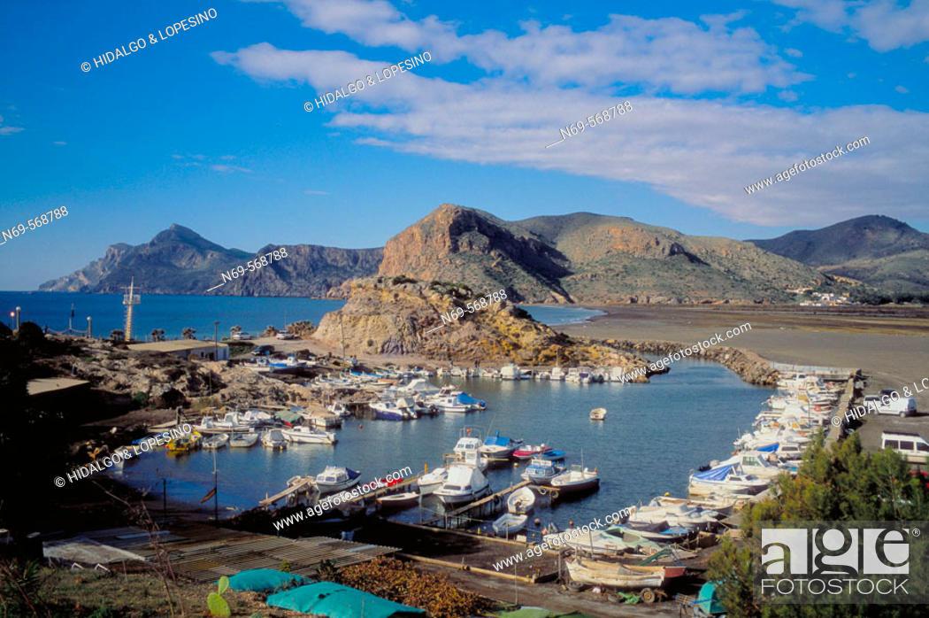Stock Photo: Portman. Lastre beach. Murcia province. Spain.