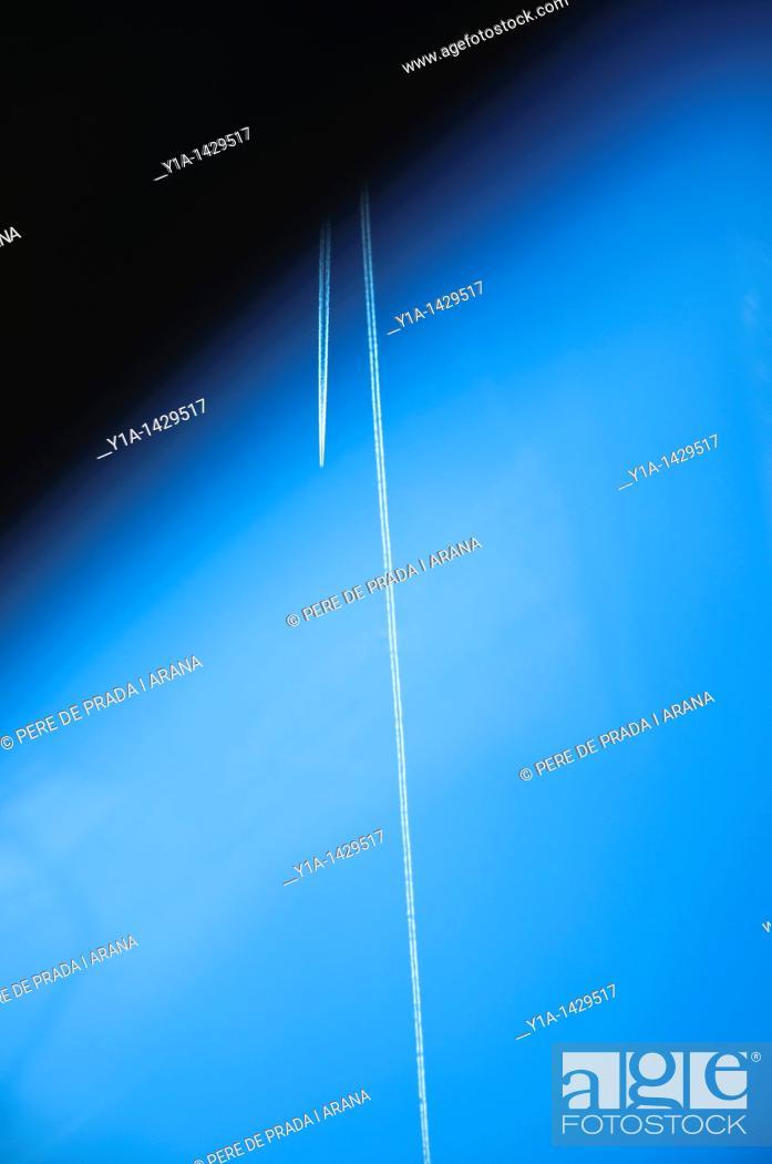 Stock Photo: Flight through atmosphere  Fake illusion.