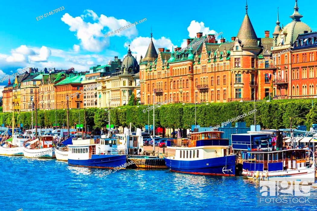 Stock Photo: Old Town in Stockholm, Sweden.