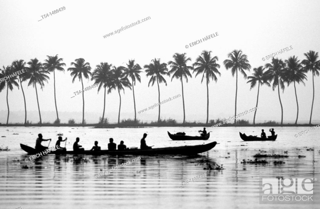 Stock Photo: Backwaters in Kerala.