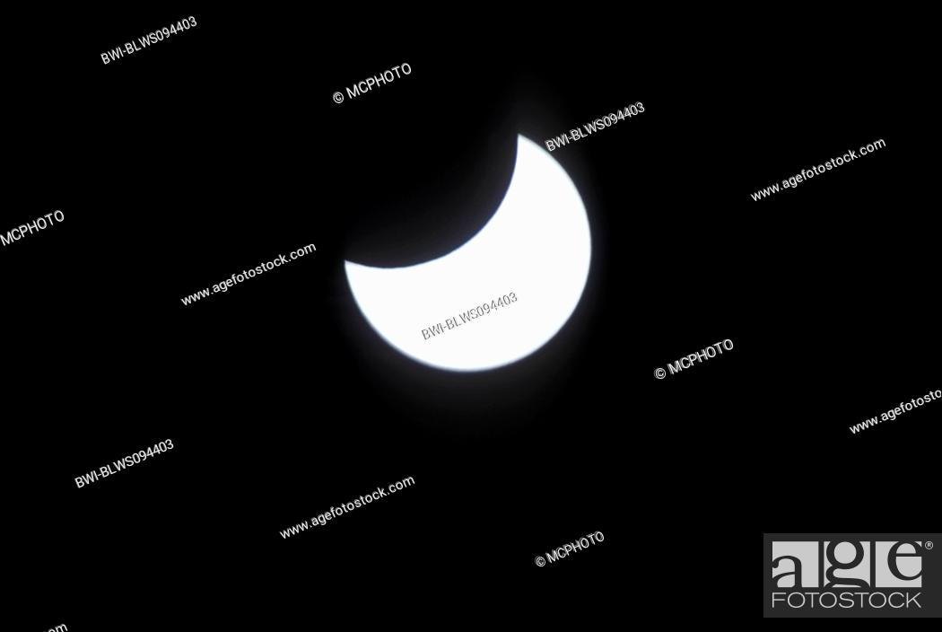 Stock Photo: partial eclipse.