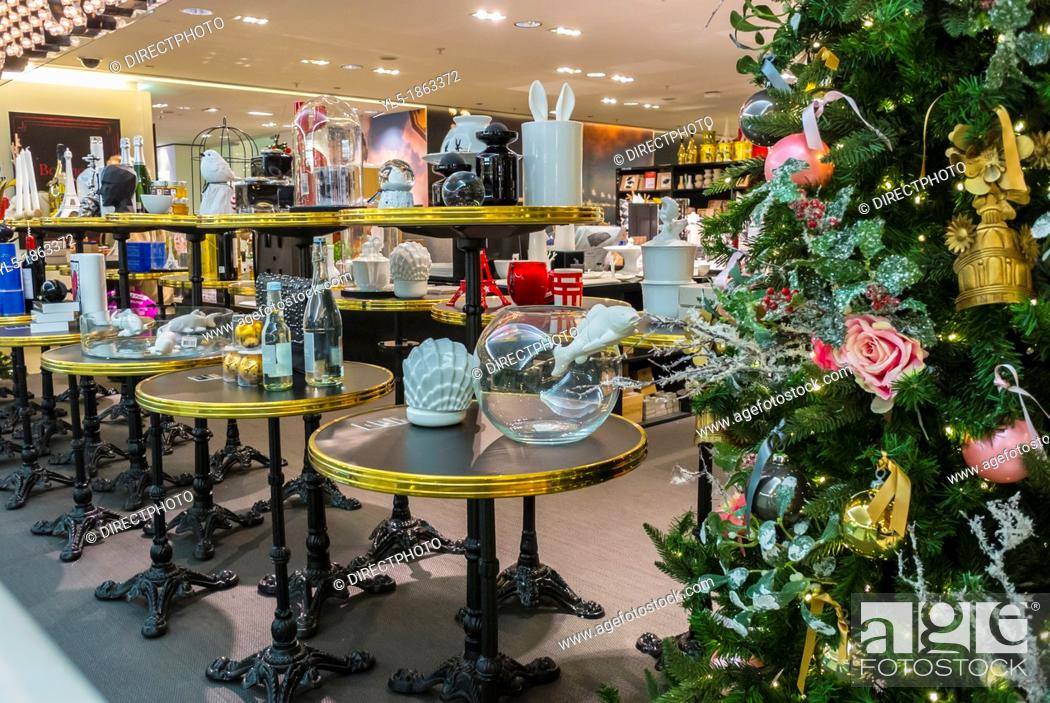 Paris, France, Christmas Shopping, French Department Store ...
