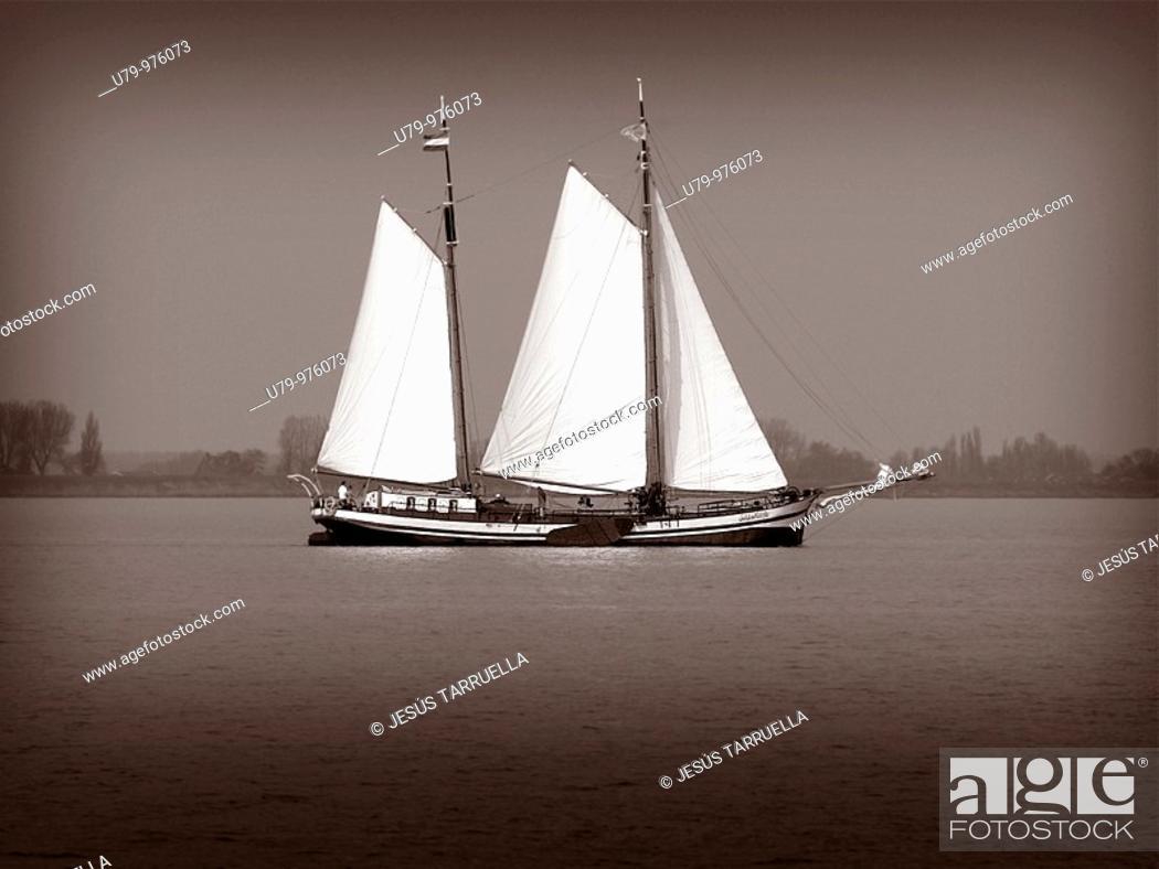 Stock Photo: Sailboat.