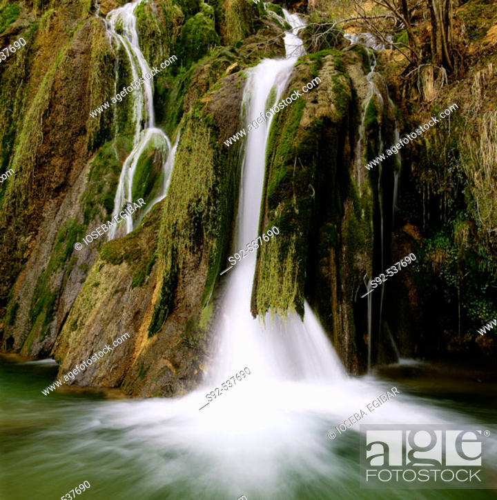 Stock Photo: Andoin. Falls. Alava. Euskadi. Spain.