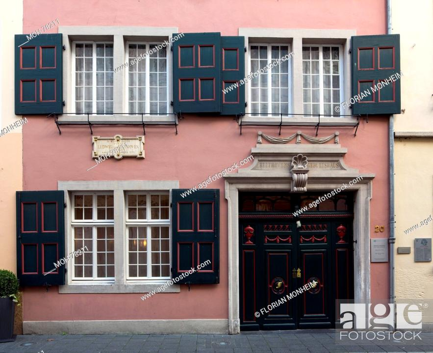 Bonn, Bonngasse mit Beethoven-Haus, Stock Photo, Picture And