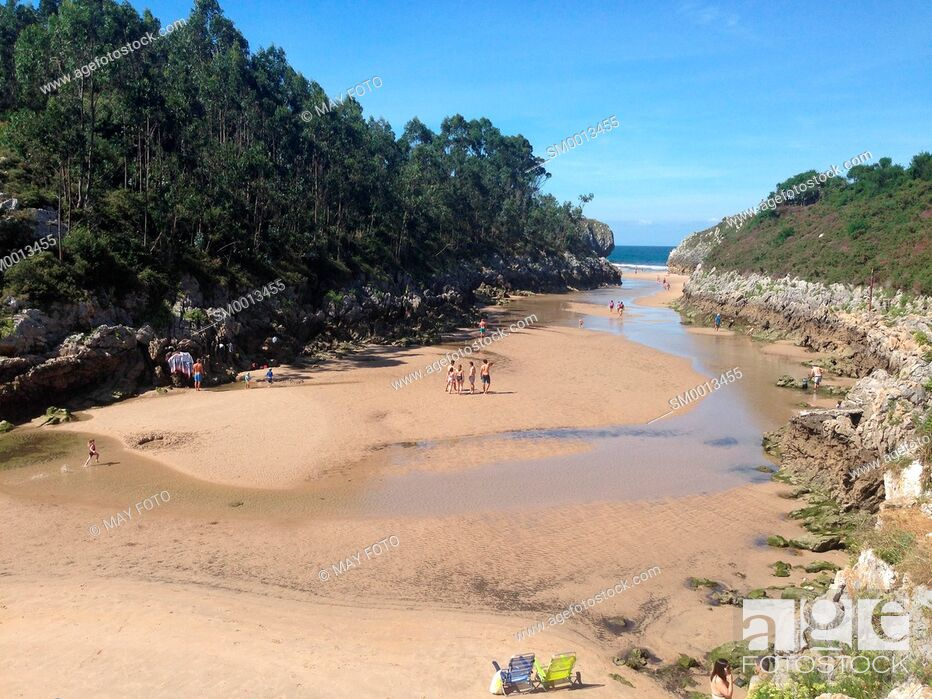 Stock Photo: Guadamía beach, Llanes, Asturias, Spain.