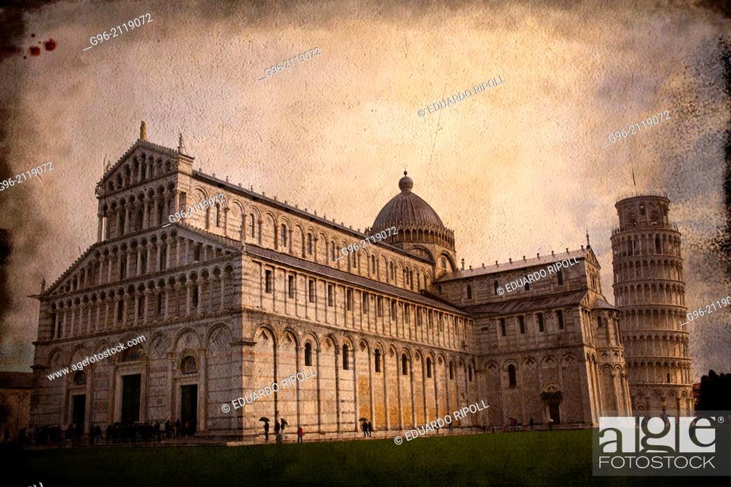 Photo de stock: Leaning Tower Of Pisa, Piazza Dei Miracoli, Pisa, Tuscany, Italy.