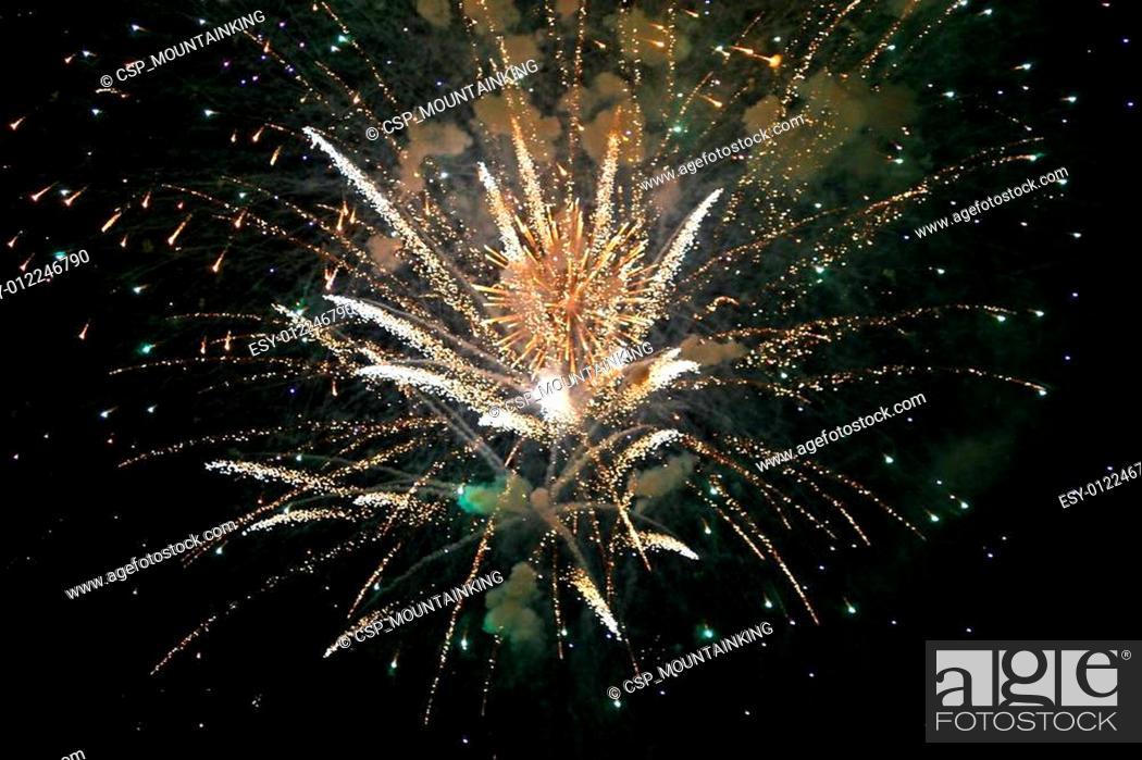 Stock Photo: Fireworks.