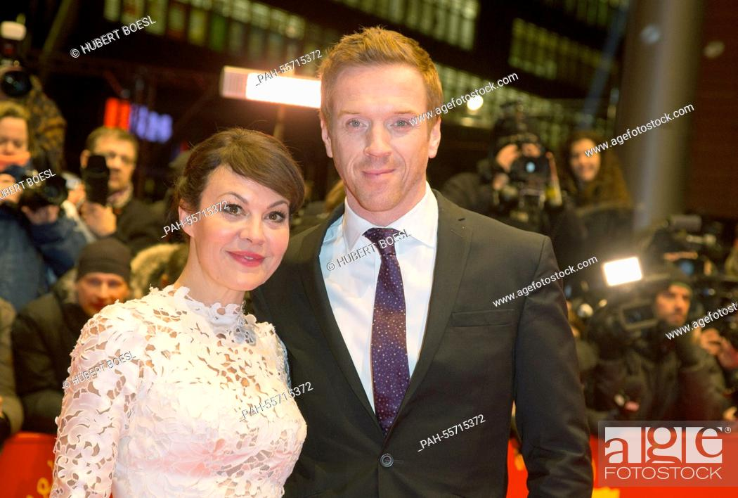British actor Damian Lewis and his wife Helen McCrory ...