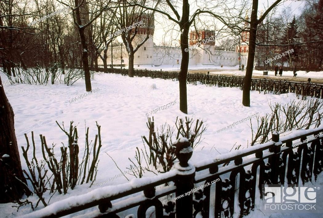 The Red Square Winter Season Moscow Russia Stock Photo
