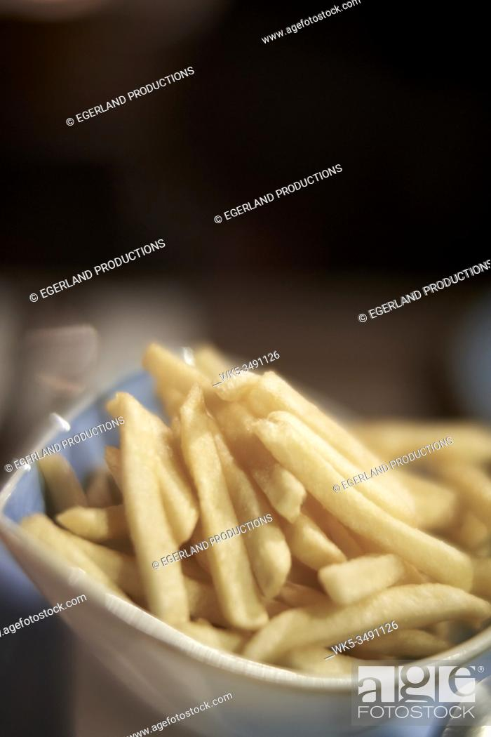 Stock Photo: fries served in bowl.