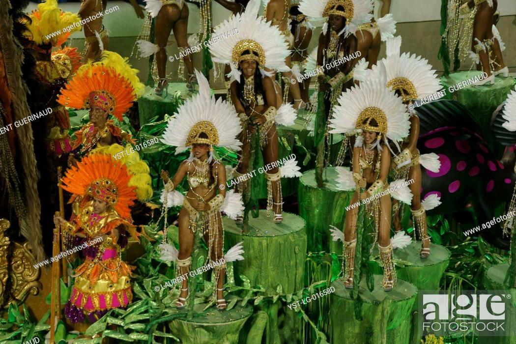 Stock Photo: Imperatriz, Carnaval, Rio de Janeiro, Brazil.