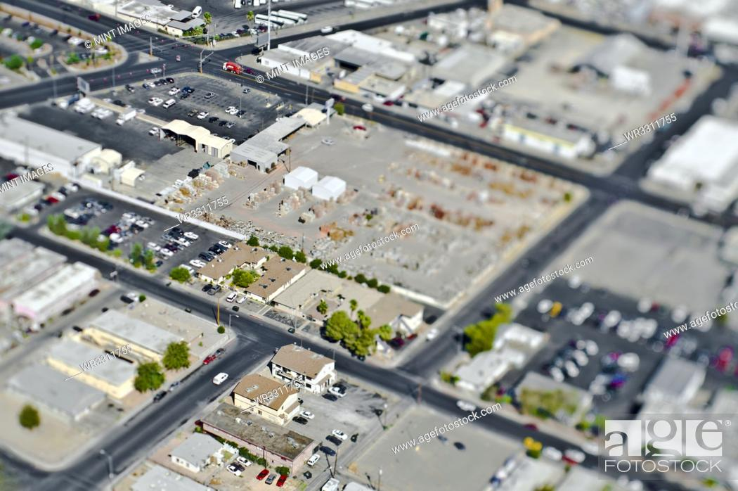 Stock Photo: Aerial View of Commercial Area.