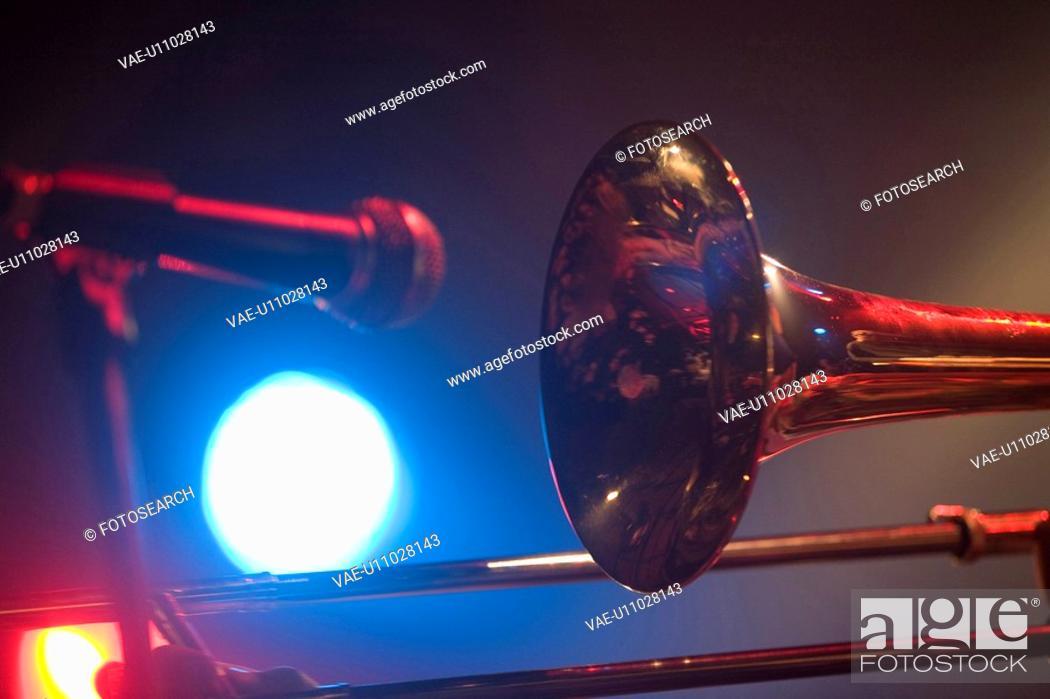 Stock Photo: Trombone.
