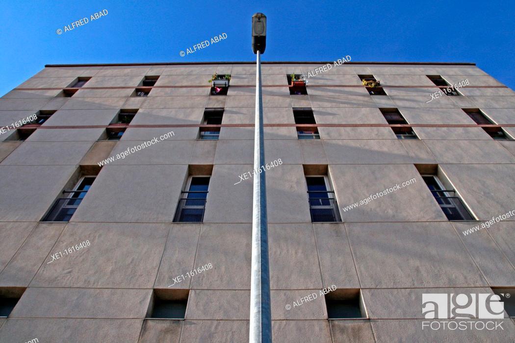 Stock Photo: lamp, housing, Cornella de Llobregat, Catalonia, Spain.
