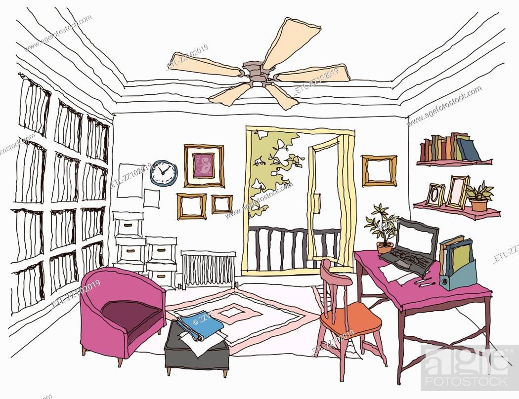 Stock Photo: Study Room interior.