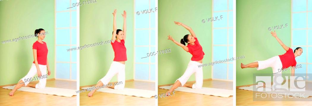 Imagen: I survive every crisis - yoga exercise.