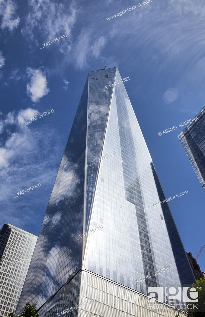 Stock Photo: One World Trade Center on site of Twin Towers in New York - USA.