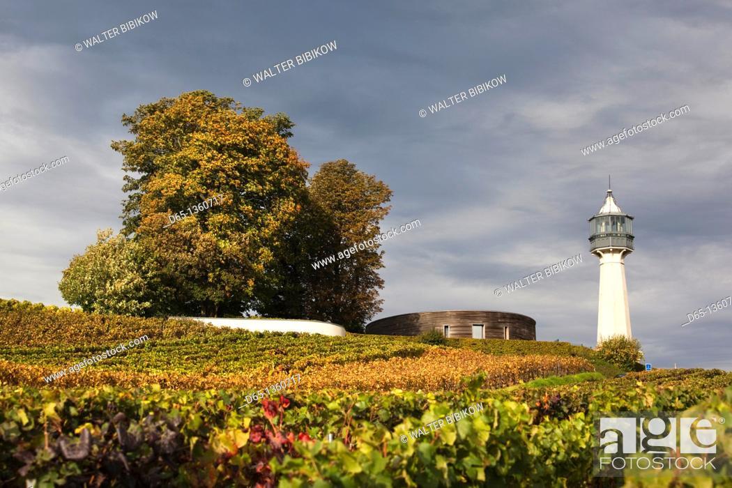 Stock Photo: France, Marne, Champagne Ardenne, Verzenay, Musee de la Vigne, lighthouse.