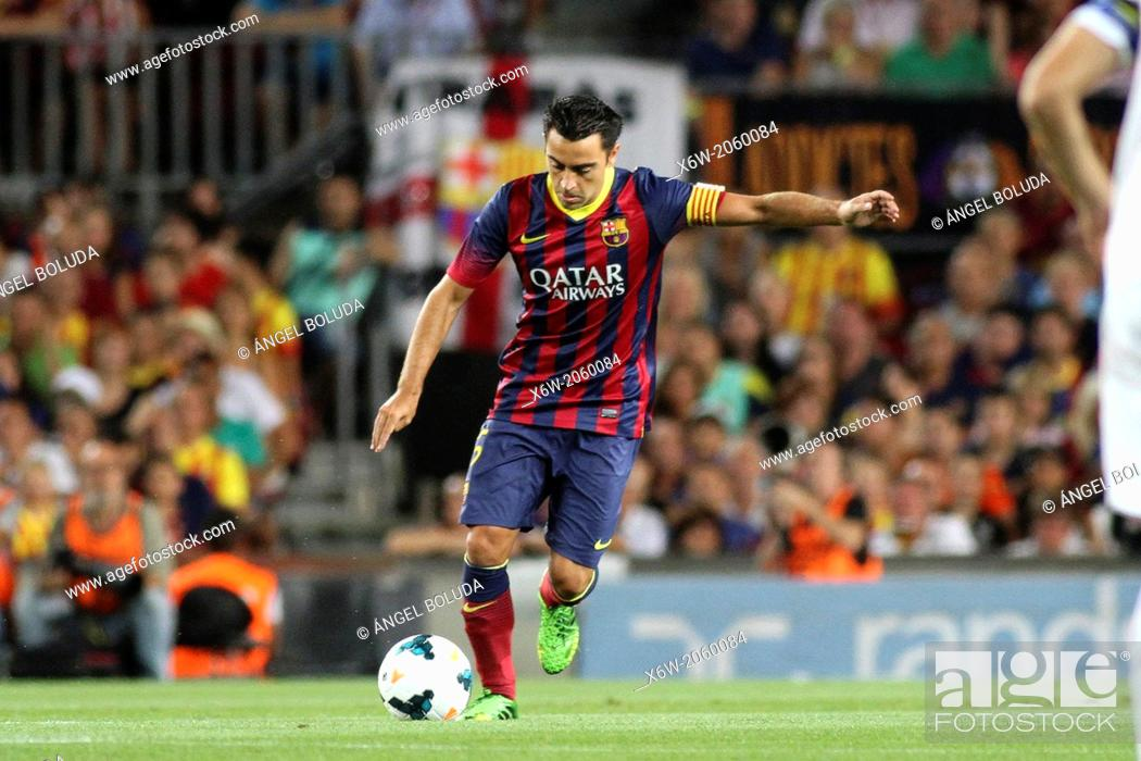 Stock Photo: FC Barcelona. Xavi in action.