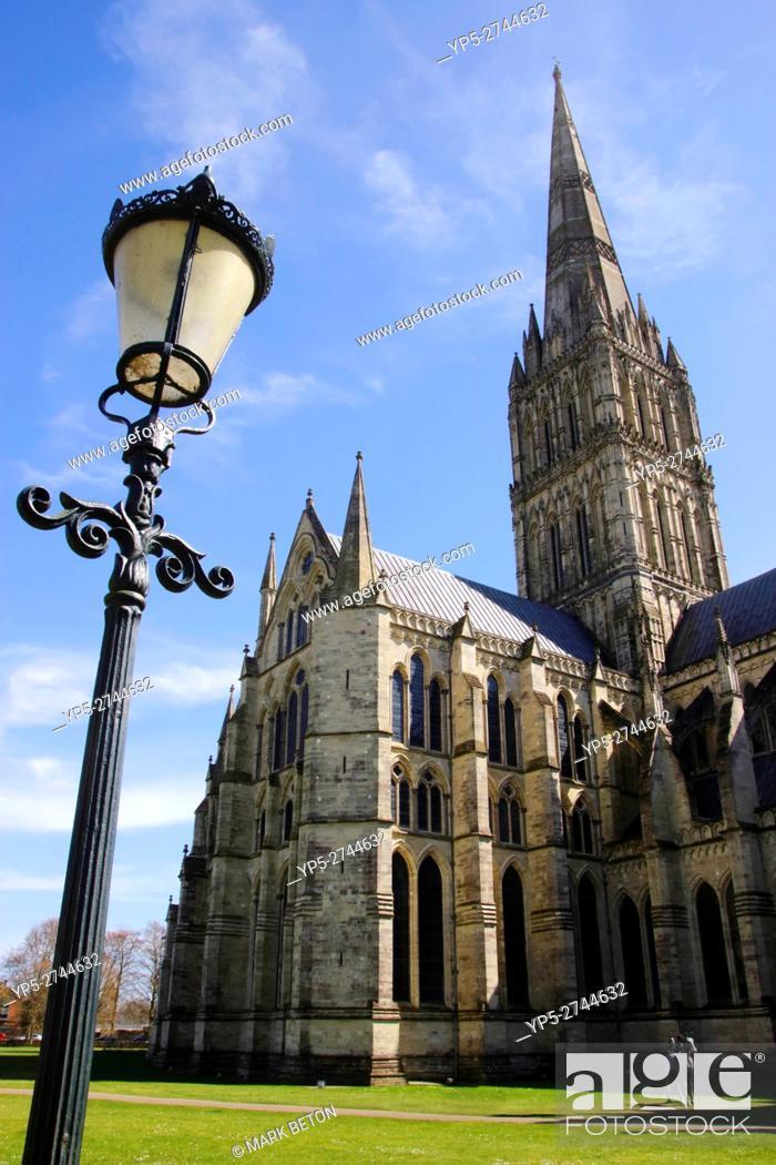 Stock Photo: Salisbury Cathedral Wiltshire England.